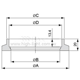 Socket Weld Flange (KF80-160)