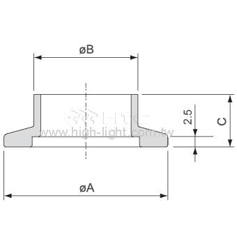 對焊法蘭(短頸管)