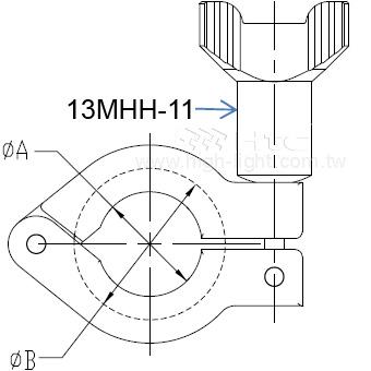 13MHH 重負荷單爪衛生級卡鉗
