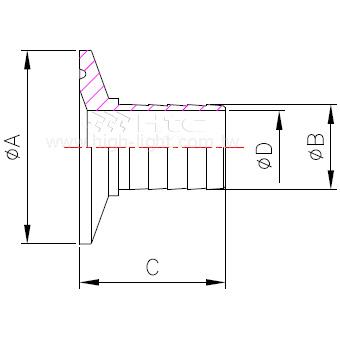 14MPHR 衛生管件連接頭