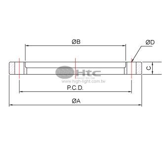 ISO回転可能なボルトリング