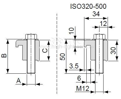 ISOシングルウォールクランプ