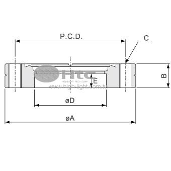 CF封蓋法蘭(不旋轉-螺栓孔接頭法蘭)