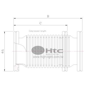 ISO法蘭連結壓縮波紋管