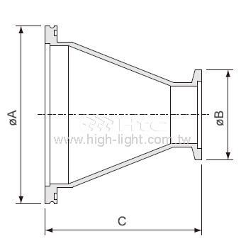 ISO-KF法蘭錐型縮減管接頭