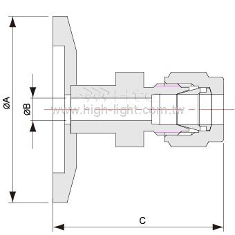 KF-Swagelok Adaptor