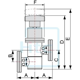 Z型インライ真空バルブ-軸シール-CFフランジ(回転)