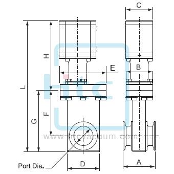 氣動連桿式-小型-高真空閘閥