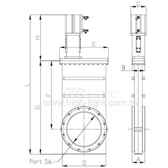ISO Pneumatic-HV Gate Valve (Linkage mechanism)