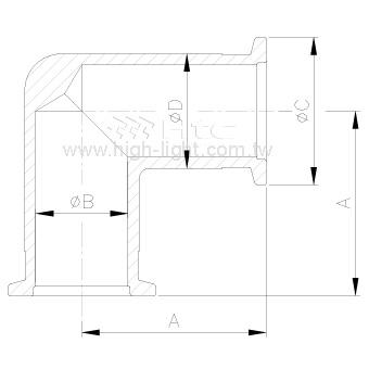 KF90° 彎頭-鋁管件