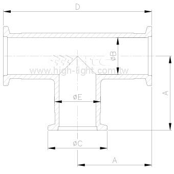KF 三通-鋁管件