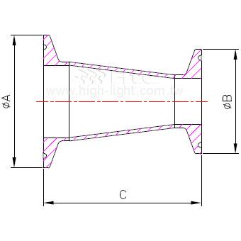 C.31-14MP - 錐型縮減管接頭