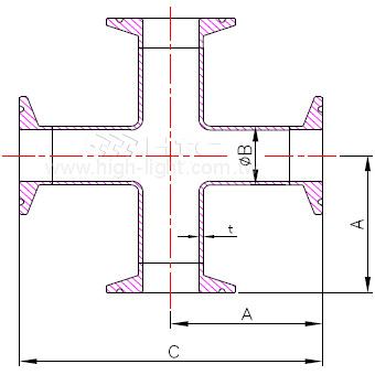 9MP - 衛生級四通管