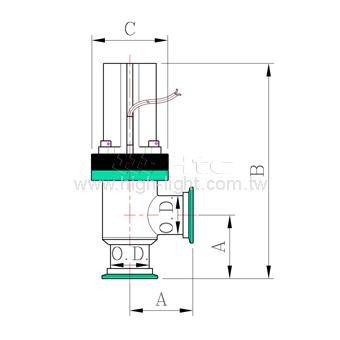 Pneumatic Teflon Coating Vacuum Angle valve