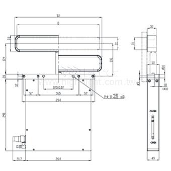 Rectangular doors slit valve